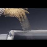 Lichtkoepels enkelwandig polycarbonaat in helder of opaal glas 80x250 cm.