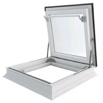 Dakbetreding vlakke glasplaat energie besparend DU6 glas 90x90 cm