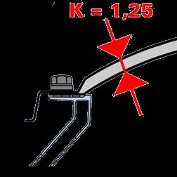 Isolerende bolvormige lichtkoepel 75 x 175 cm
