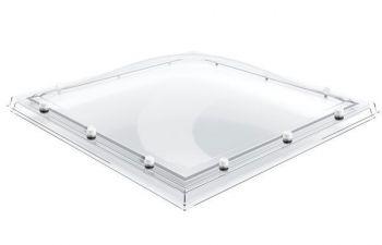 Losse lichtkoepel 80x180 cm enkelwandig domelite met afdichtingsband en doppen.