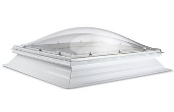 Domelite lichtkoepel met PVC Dakopstand gratis thuisbezorgd