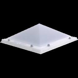 Lichtkoepel piramide driewandig acrylaat dagmaat 200X200 cm