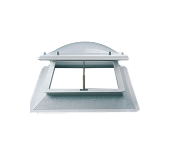 Stel uw lichtkoepel ventilatie dagmaat 130x230 cm samen