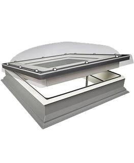 Lichtkoepel platdak Fakro lichtkoepel DMC ventilatie 100x100 cm