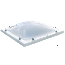 Lichtkoepel vierwandig acrylaat met hoge isolatie waarde 100x200 cm.