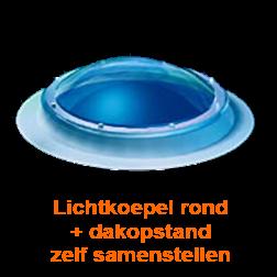 Lichtkoepel rond diameter 200 cm