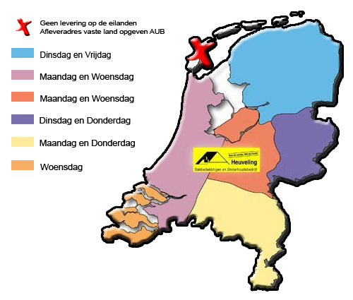 Bezorgen Lichtkoepel nederland en Belgie