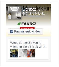 Facebook pagina lichtkoepeltje.nl