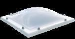 Lichtkoepel glashelder domelite driewandig met een dagmaat van 75x75 cm.