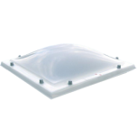 Lichtkoepel enkelwandig acrylaat in helder of opaal glas 100x250 cm.