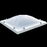 Lichtkoepel enkelwandig acrylaat in helder of opaal glas 130x160 cm.