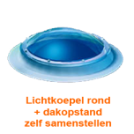 Lichtkoepel rond diameter 130 cm