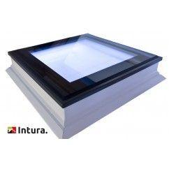Platdakraam Intura met LED verlichting inclusief afstandbediening 100x100 cm.