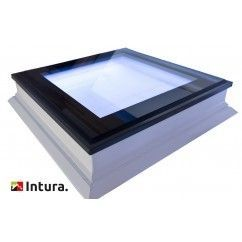 Platdakraam Intura met LED verlichting inclusief afstandbediening 80x80 cm.