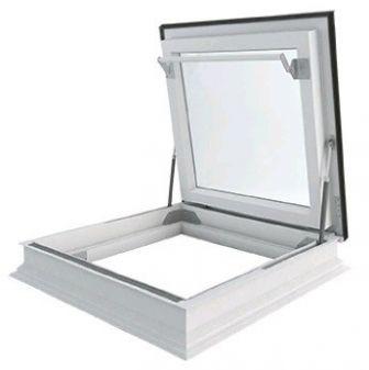 Dakbetreding vlakke glasplaat energie besparend DU6 glas 120x120 cm