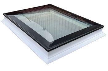 Platdakraam Intura PGX B6 met bolvormige koepel van glas 90x120cm