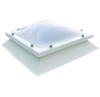Lichtkoepel met dakopstand dagmaat 80x250 cm samenstellen