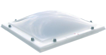 Lichtkoepel glashelder domelite dubbelwandig met een dagmaat van 100x160 cm.