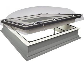 Lichtkoepel elektrische ventilatie HR++ glas Fakro DEC P2 120x220 cm