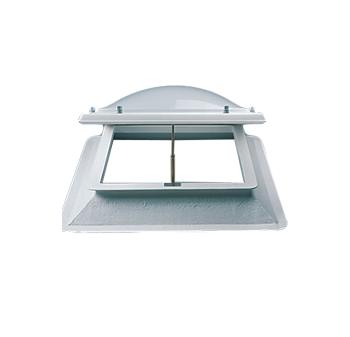 Lichtkoepel ventilatie op dak 110x110 cm
