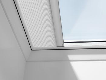VELUX plisse voor VELUX lichtkoepel en glaskoepel kleur 1016 wit.