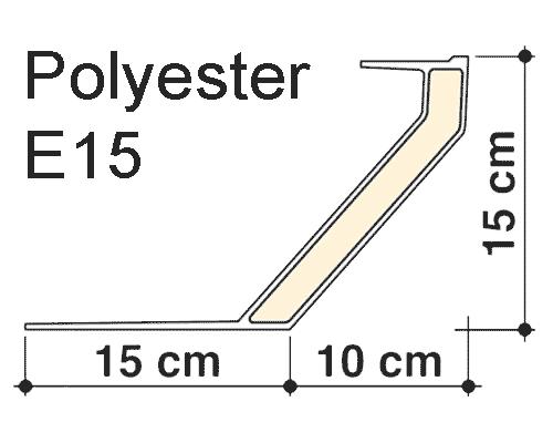 Dakopstand E15 polyester dubbelwandig