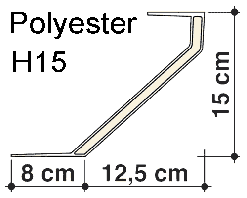 Dakopstand polyester H15