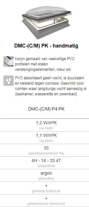 Fakro lichtkoepel handmatig te openen type DMC 60x60